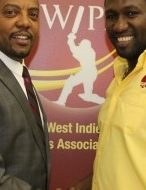 WIPA President & CEO Wavell HIinds with WICB President Dave Cameron