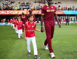 Jason Holder leading out the troops
