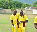 Teammates Pedro Collins and WIPA President & CEO Wavell Hinds