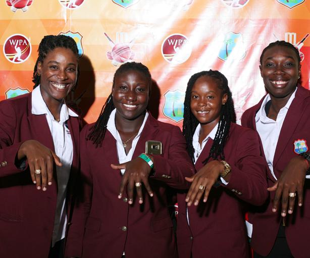 Windies Women with their rings
