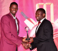 Jason Holder collecting for Regional Team of the Year