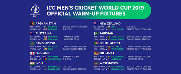 World cup 2019 fixture picture